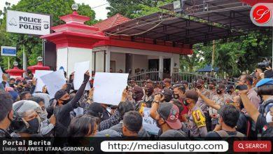 Aksi demo wartawan Gorontalo