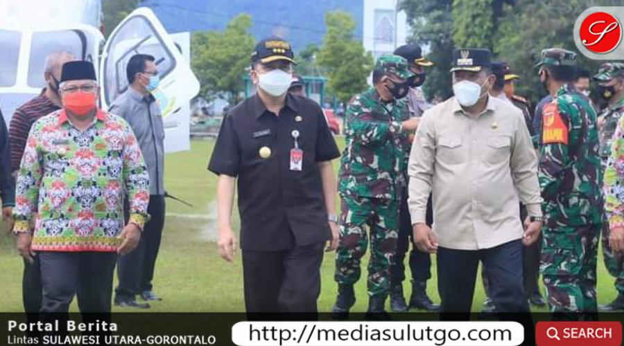 Photo of Bupati dan Wabup Bolmut Sambut Kunker Pjs Gubernur Sulut