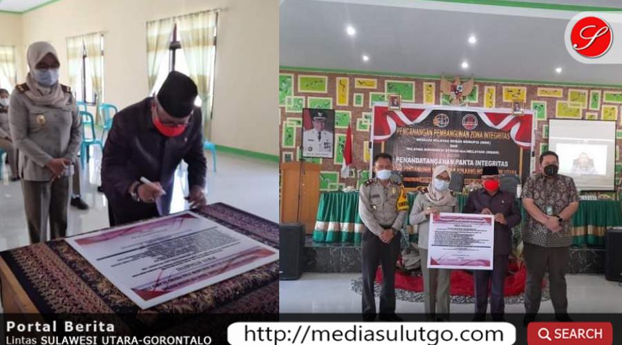 Photo of Wabup Amin hadiri Pencanangan ZI menuju WBK dan WBBM Kantor ATR/BPN Kabupaten Bolmut