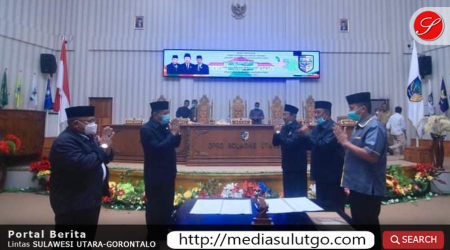 Photo of DPRD Bolmut Tetapkan Ranperda APBD 2021 Menjadi Perda