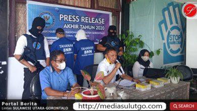 Terduga pengedar dan pengguna narkoba yang dibekuk BNNK Gorontalo