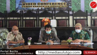 Vidcon Wakil Bupati Gorontalo bersama Kemendagri