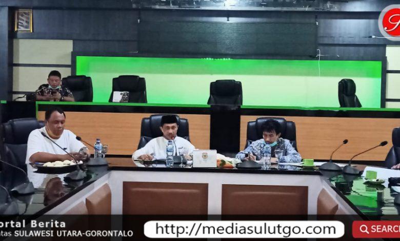 Rapat BSPS diruang Madani Kantor Bupati Gorontalo